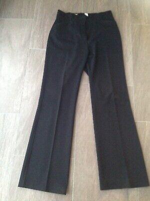 Zwei Falte Hose (damenhosen Größe 36 schwarz mit Bügelfalte, zwei Seitentaschen)