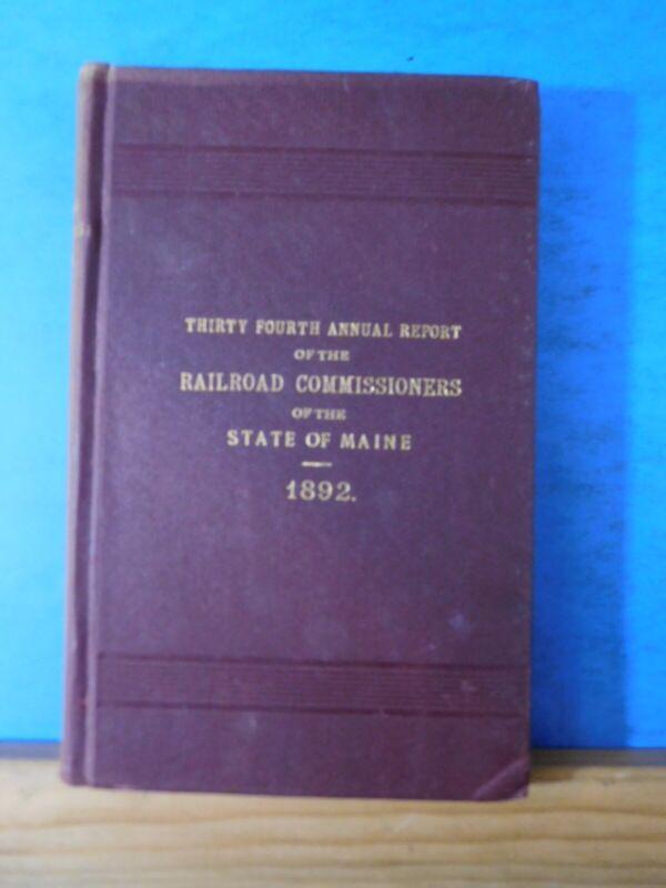 Annual Report Maine 1892 Railroad Commissioners