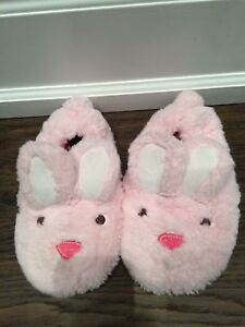 Girls Stride Rite bunny slippers size large 11 12