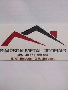 Simpson metal roof & wall cladding Glossodia Hawkesbury Area Preview