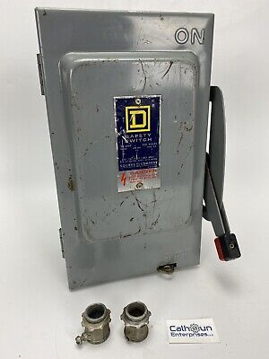 Square D H221 Heavy Duty Safety Switch Disconnect 30 Amp 240v Series E1 Warranty