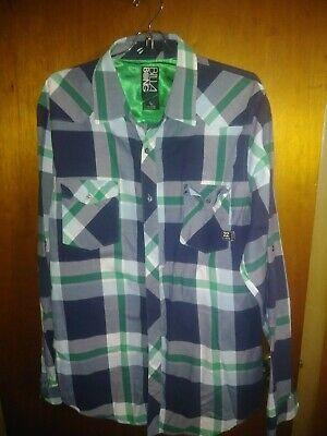 Billabong Mens Shirt PLAID Size XL Button Down retails $59