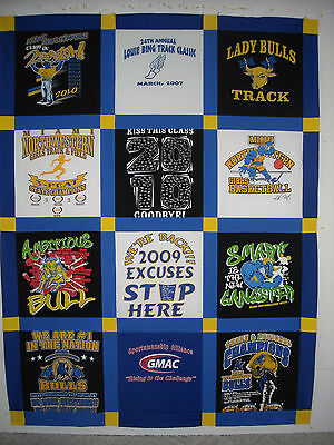 CUSTOM MADE T-SHIRT MEMORY QUILT using your shirts, I help SAVE YOUR MEMORIES