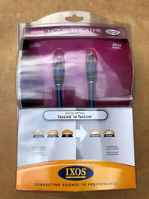 IXOS XHD208  1 Metre Digital Optical Toslink to Toslink Audio Cable