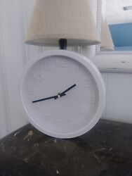 White Wall Clock battery operated