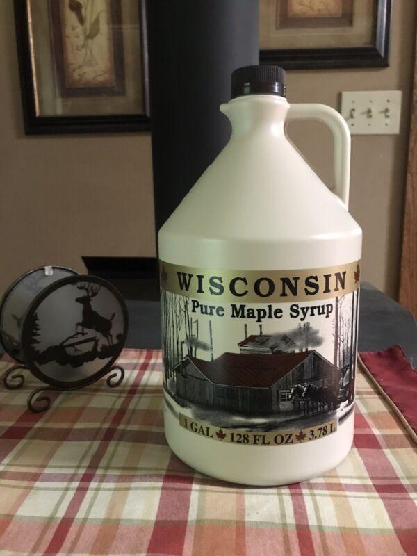 Organic 100% Pure Wisconsin 🍁Maple Syrup🍁(128 Oz.) 1 Gallon **NEW**