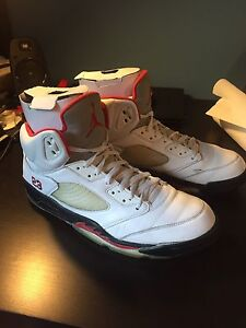 "Air Jordan Fire Red ""Grey tongue"" 5's SIZE 15"