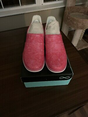 Cherokee Infinity Breeze Nursing Shoes, sz 9 NWT! ~ Glide Slip On Leather Pink Cherokee Nurse Shoes
