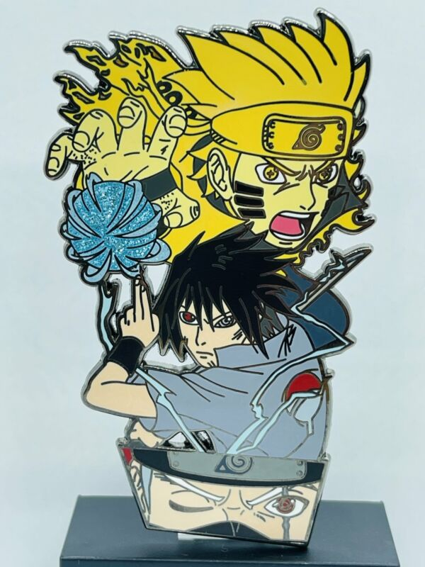 Naruto, Sasuke and Kakashi 3.5 inch Enamel Pin LE 30 Color Version Exclusive