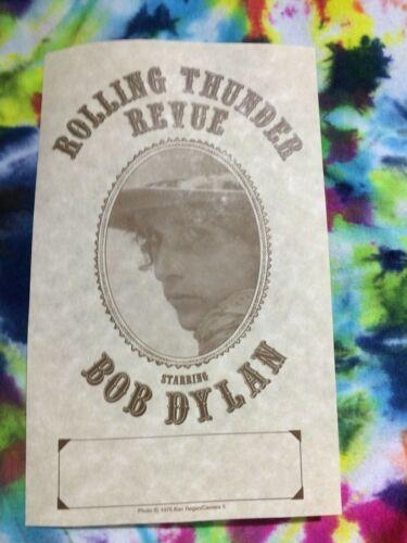BOB DYLAN ROLLING THUNDER REVUE 1975 Original Concert Show Handbill Very Rare !