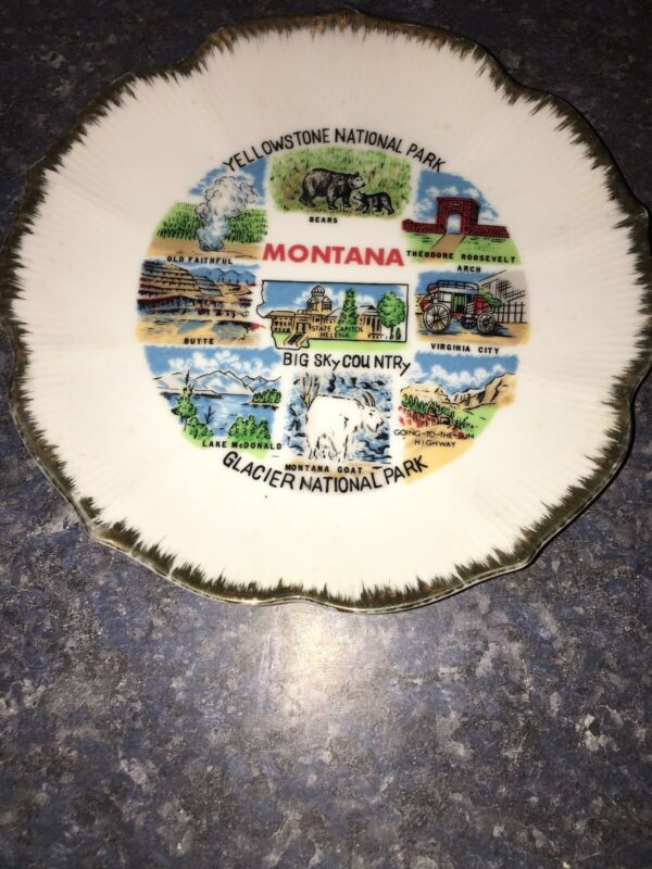 Vintage Montana Souvenir Plate
