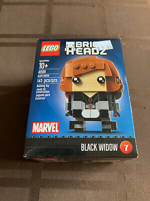 New Lego Brickheadz Captain America Civil War Black Widow 41591 Sealed marvel