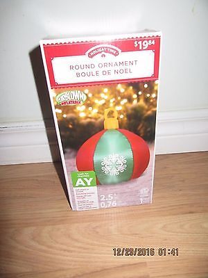 Holiday Time - Round Ornament Christmas Inflatable - - $19.95