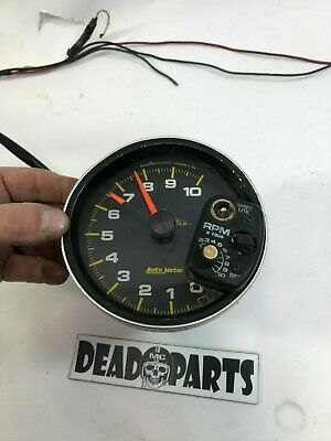 """Harley autometer tach tachometer gauge 5"""" pro cycle racing"""