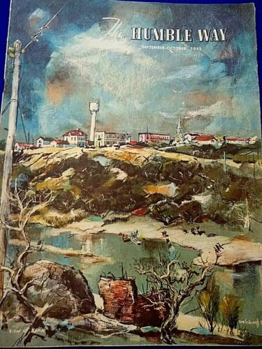 Humble Oil Texas Historical Magazine 1952 28pg Feature- Along The River Road