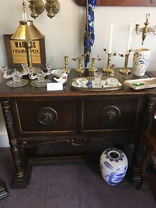 Antique Gothic Revival Buffett and Server ca 1920