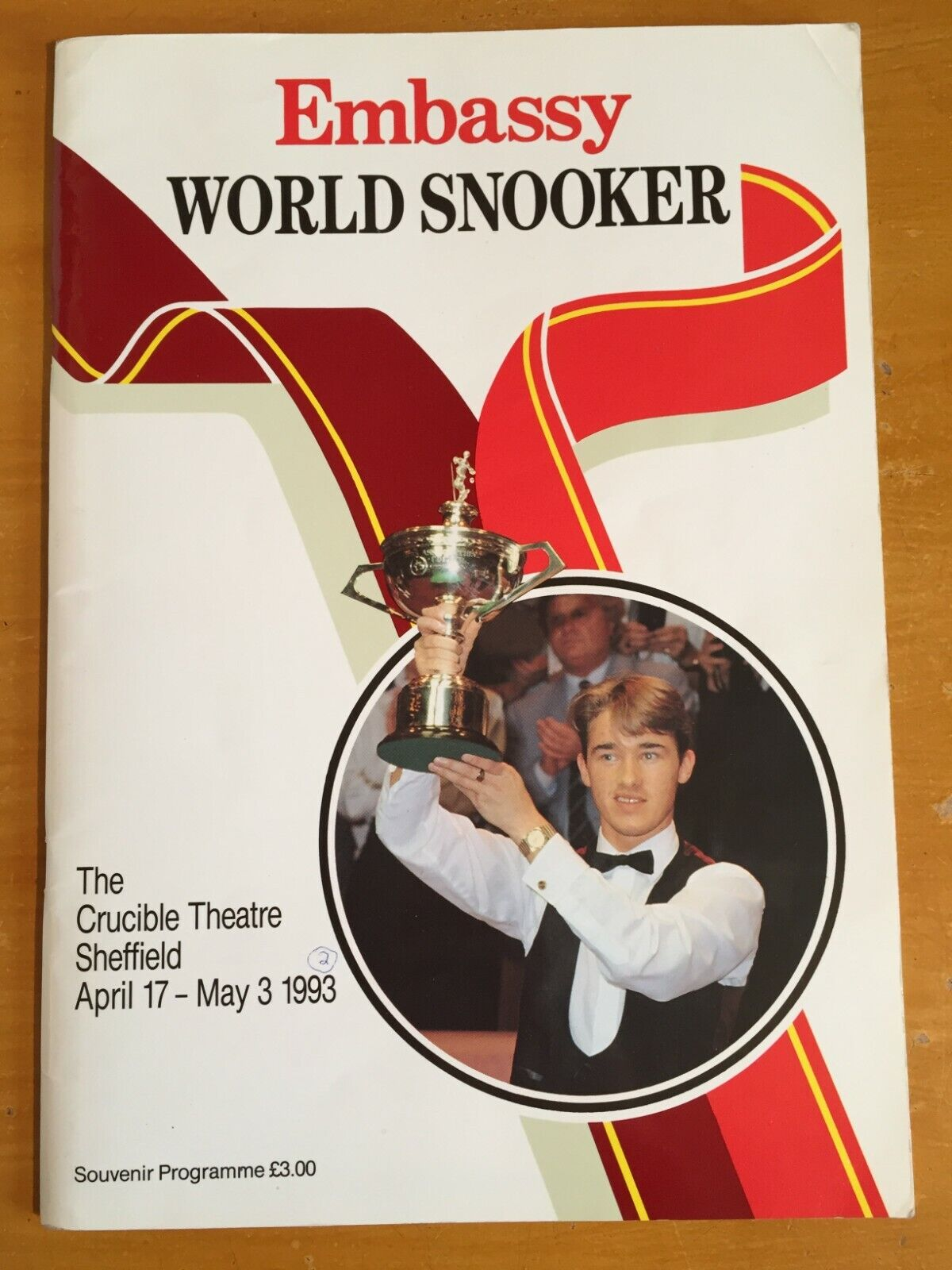 1993 Signed by 23 Snooker Players Crucible Embassy World Snooker Programme vgc