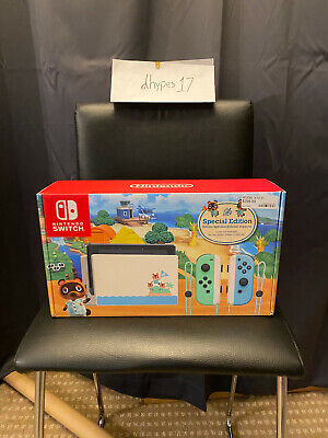 FREE OVERNIGHT SHIP ⚡️LIMITED EDITION ANIMAL CROSSING 🐨NINTENDO SWITCH CONSOLE
