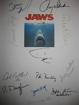 Jaws Signed Movie Script X11 Roy Scheider Steven Spielberg Robert Shaw Gary Rpnt