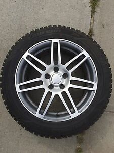 215 55 r17 Studded Winter Tires and Rims