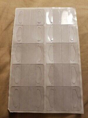 Usa Hang Tabs 400pack Clear Plastic Self Adhesive Tags Hang Tabs