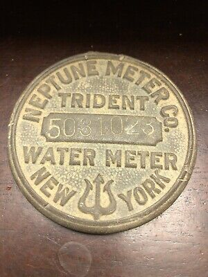 Neptune Meter Co Trident Water Meter Cover New York Number 5031023 Steampunk