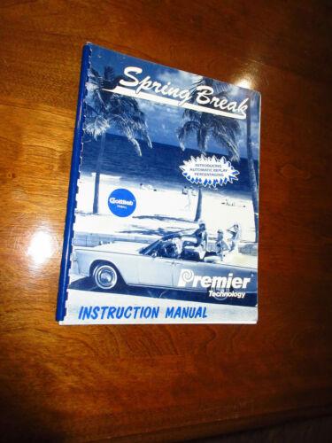 Gottlieb SPRING BREAK Pinball Manual & Schematics