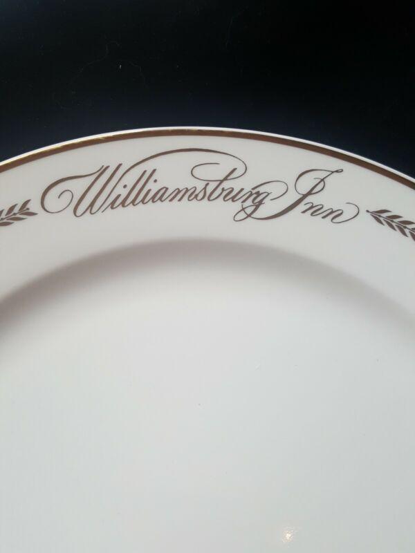 Vtg Homer Laughlin China Gold Colonial Williamsburg Inn Restaurant Hotel Plate