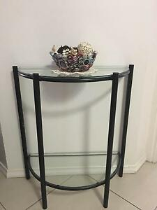 Glass and metal Hall Table Oakden Port Adelaide Area Preview