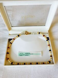 Misaki X-treme Lustre Pearl Necklace.Gold Plated & Bronze Retail $230 Price $65