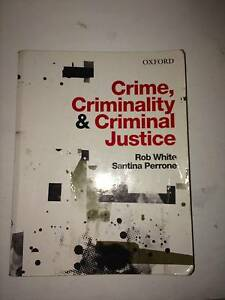 Crime, Criminality & Criminal Justice (R White and S Perrone) Kingsford Eastern Suburbs Preview