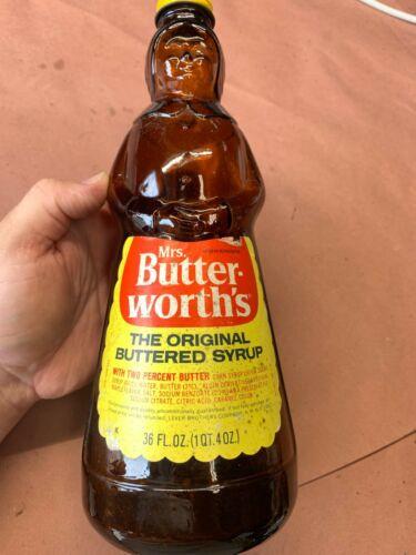 Vintage Mrs. ButterWorths Syrup Glass Bottle 36 oz Butter-Worth
