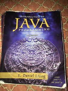 Introduction to java programming 10th edition Pearson