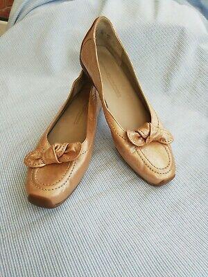 Kennel Schmenger Slip On Rosado Pumps/Driving Shoes. UK 4.5 Soft Gold Leather