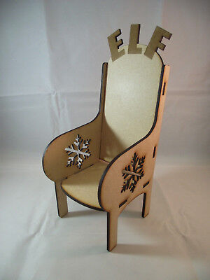 Elf Throne Ready to Decorate Laser Cut Chair for your Elf Doll (Chair Decorations For Halloween)