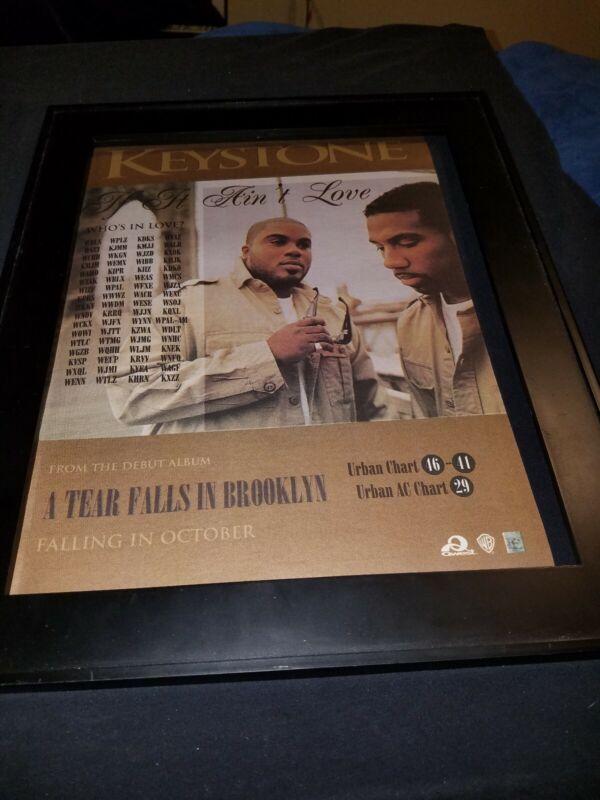 Keystone A Tear Falls In Brooklyn Rare Original Radio Promo Poster Ad Framed!