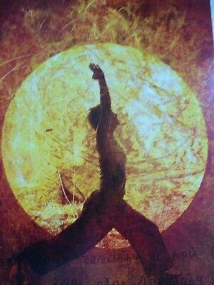 Karte Yoga Ruhe  Licht  Meditation  Ansichtskarte VERSANDKOSTENFREI!