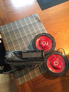 Car speakers and deck