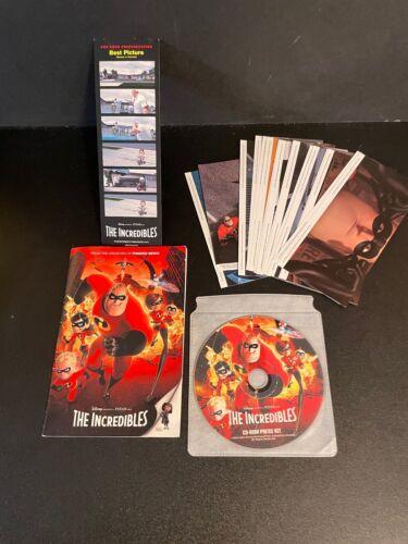 THE INCREDIBLES CD-ROM PRESS KIT BOOKLET & SCREENSHOT PHOTOS