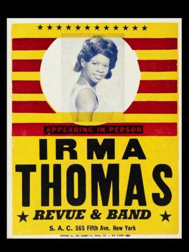 "Irma Thomas 16"" x 12"" Repro Concert Poster"