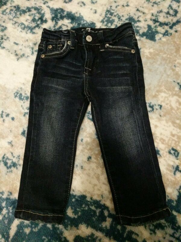 VGUC 7 For All Mankind Baby Jeans Size 12M Dark Wash Denim, Blue, SHIPS FREE
