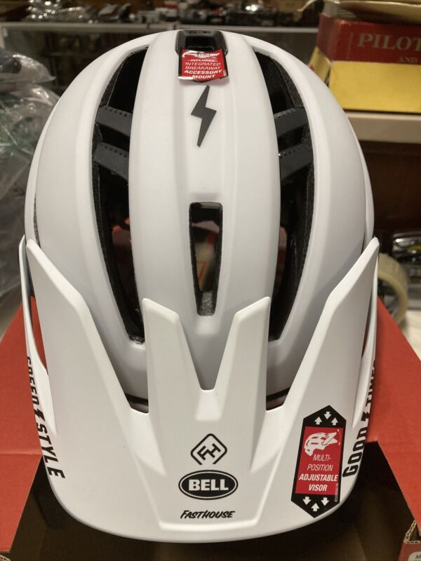 ! Bell Sixer Fasthouse MIPS Adult MTB Cycling Bike Helmet Stripes Matte White