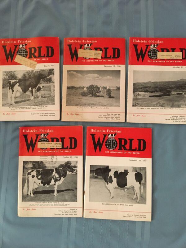 5 HOLSTEIN WORLD July 25, Sept 10, Oct 10 & 25, Nov 25, 1965