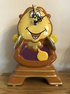 NEW DISNEY COGSWORTH CLOCK & ORNAMENT, BEAUTY & THE BEAST BNIB