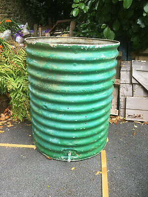 ShabbyChic Large Old antique vintage corrugated metal galvanised planter or tank