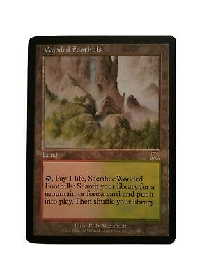 Wooded Foothills NM Onslaught MTG Magic the Gathering Rare fetch land