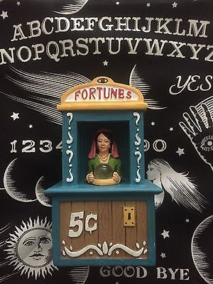 Carnival Boardwalk Fortune Teller Light Up Display Figure Dept 56 Lemax Size 5in (Fortune Teller Halloween Decoration)