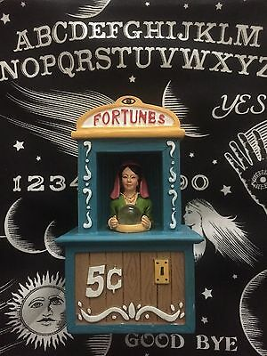 Carnival Boardwalk Fortune Teller Light Up Display Figure Dept 56 Lemax Size - Fortune Teller Halloween Decoration