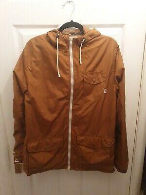 Men's Vans lightweight Joel Tudor Collections Jacket In brown Large small hole