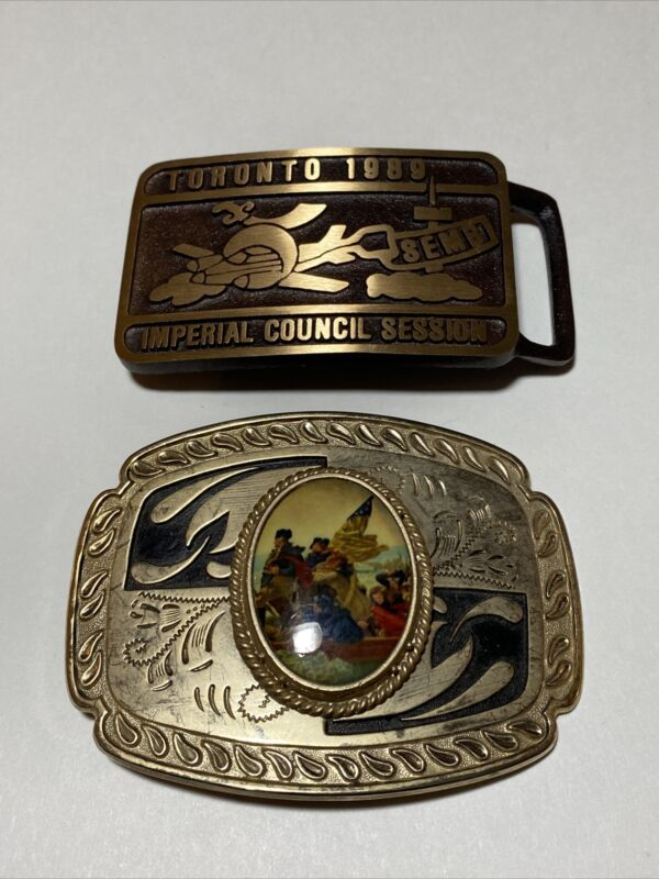 Imperial Council Session Toronto 1989 Belt Buckle Brass Plus Other One